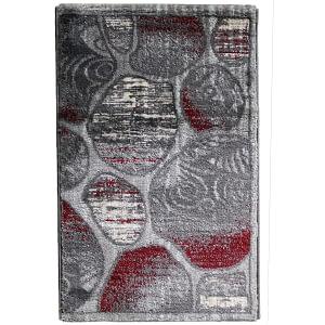 Doormat Jasmin 60 by 90 cm color gray