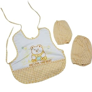 Baby bib with baby lap sock