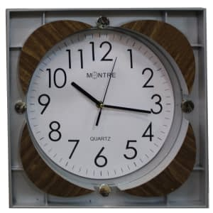 Wall clock Montre color white with in curved design