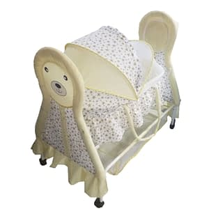 Child Craft Baby Crib Teddy Face Bassinet Color yellow