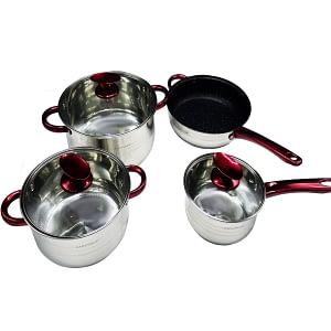 Cookware 7 Pcs Kaisa Villa 5 Layer Capsule bottom