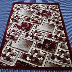 Rug Lagoste 155 by 220 cm color maroon
