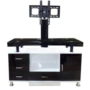 Tv rack white color horizontal design No:066