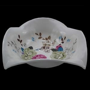 Glass white bowl