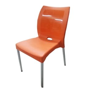 Durable Plastic Chair with Metal legs