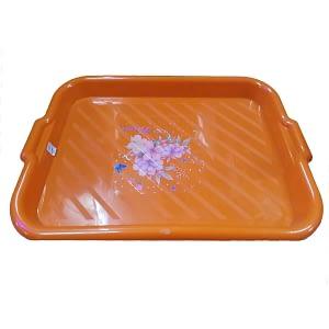 3 Pcs Plastic serving complast tray durable
