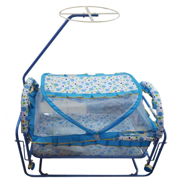 Baby crib with net and swing
