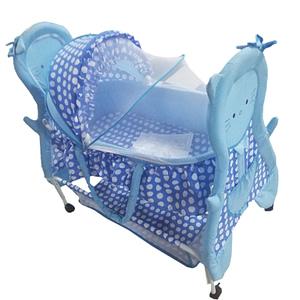 Child Craft Blue Baby Crib Teddy Face Bassinet