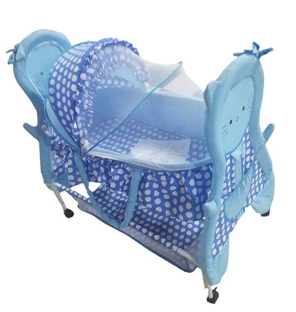 Child Craft Blue Baby Crib Teddy Face Bassinet