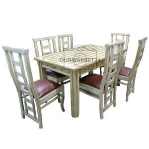 Dinning Table with six chairs rectangle design