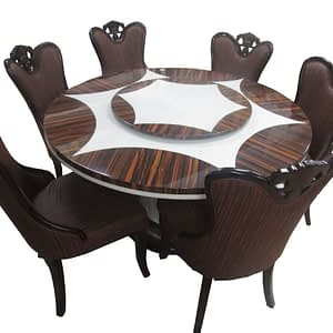 Dinning table 6chair ROUND.mar